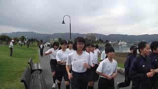 20171024長野県諏訪清陵高等学校第104回諏訪湖周マラソン900~中学生スタート