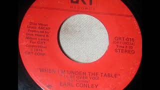 "Earl Thomas Conley ""When I'm Under The Table (I'll Be Over You)"""