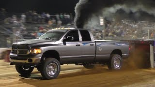 Modified Street Diesel 4X4 Trucks At Buck Powerfest Pull