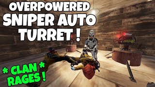 RUST | ABUSING PLAYERS with the *BROKEN* BOLT ACTION AUTO TURRET BUSH SNIPER! *Clan Rages*