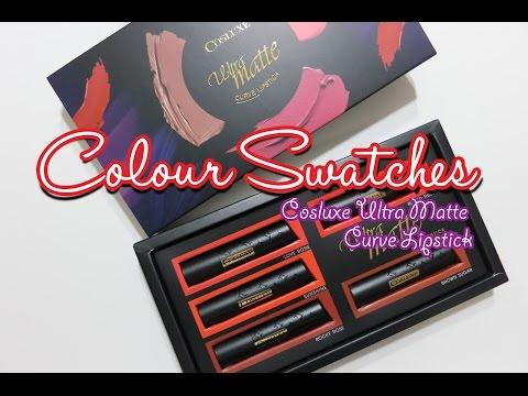 Colour Swatch Cosluxe Ultra Matte Curve Lipstick