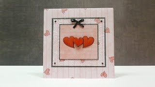 Handmade Valentines Card Idea + Tying A Bow With A Fork!