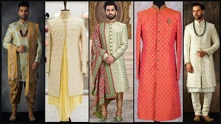Latest Party Wear Sherwani/ Mens Sherwani Collection/Dulha Sherwani/Indian Wedding Dress- FSHC