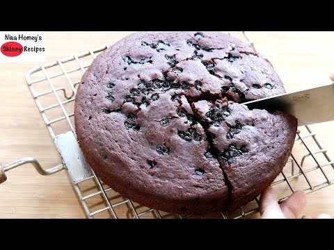 How To Make Eggless Cake Without Oven   Chocolate Cake Recipe In Pressure Cooker   Skinny Recipes