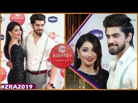 Vrushika Mehta And Avinash Mishra At Zee Rishtey Awards 2019   Yeh Teri Galiyan