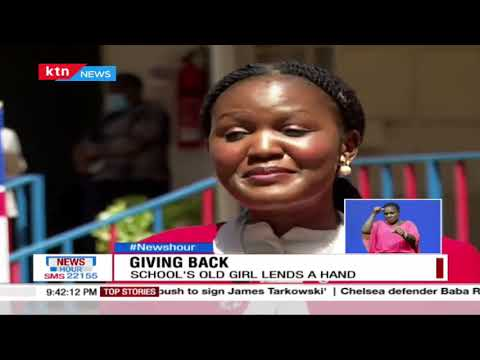 Woman who beat all odds returns to her former school Starehe Girls with donations for needy students