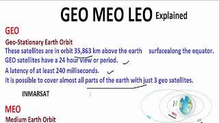 GEO MEO LEO Satellite Explained! | Mobile Communication
