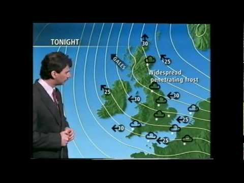 BBC  Weather 11th, 12th and 13th February 1994