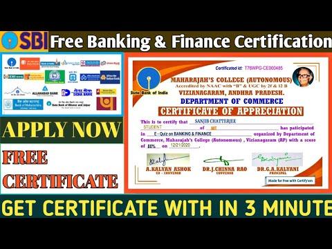 Free Banking & Finance Certification   Banking Certification   Online ...