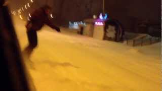 Snowboard in the city