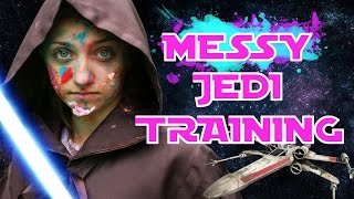 Messy Last Jedi Training Challenge | Star Wars Games | May the 4th be With You