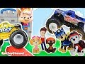 PAW PATROL Nickelodeon Mission Paw Battles Sweetie The Robber who sent Monster Trucks to Paw Patrol