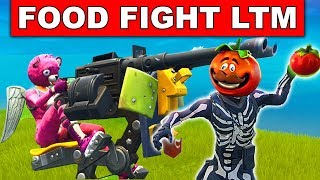 *NEW* Fortnite FOOD FIGHT Gamemode with Mounted Turret Gameplay In Fortnite Battle Royale