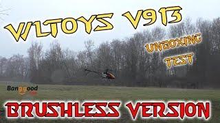WLtoys V913 Brushless Hubschrauber RTF Unboxing | Test | HD+ | Deutsch