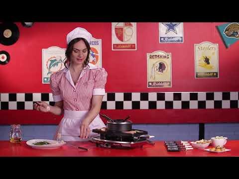 Ariete Retro raclette fondue grillsteen