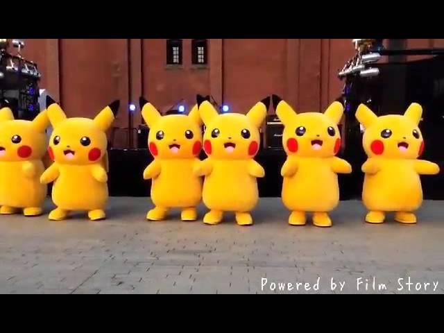 Pikachu-baile-kawaii