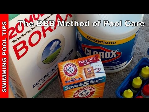 The BBB method – Using Bleach, Baking Soda & Borax to Maintain Your Swimming Pool