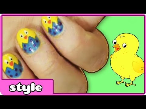 DIY Easter Nail Art: Cute and Easy Baby Chick Nail Art | Easter Nails: Nail Art For Beginners