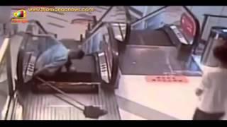 Another Horrific Escalator Mishap in China | Shanghai Man Leg gets Amputated  | Mango News