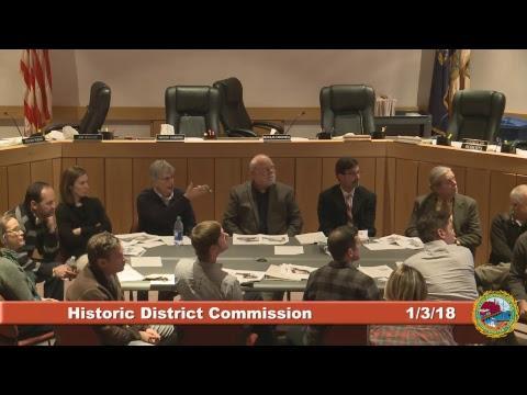 Historic District Commission 1.3.2018