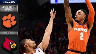 Louisville vs. Clemson Condensed Game   2018-19 ACC Basketball