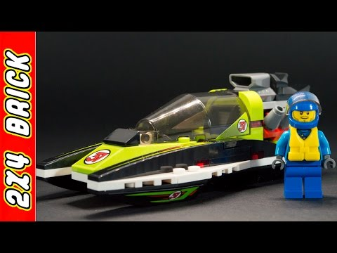 Vidéo LEGO City 60114 : Le bateau de course