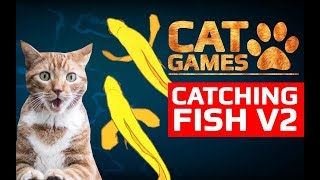 CAT GAMES - 🐟 CATCHING FISH V2 (ENTERTAINMENT VIDEOS FOR CATS TO WATCH)