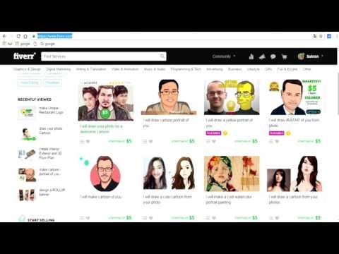 Video Cara mencari uang dari internet di situs fiverr