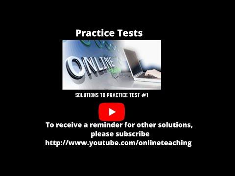 College Algebra Practice Test 1 Problems 1 to 5 - YouTube