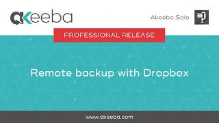Watch a video on Remote Backup with Dropbox [02:51]