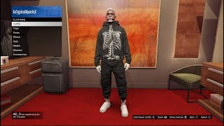 How To Get Spooky Skeleton Tryhard Outfit  Gta 5 Online