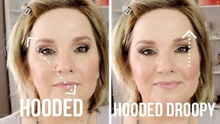 """EYE LIFT"" Makeup for HOODED, DROOPY or Downturned Eyes / TWO Techniques"
