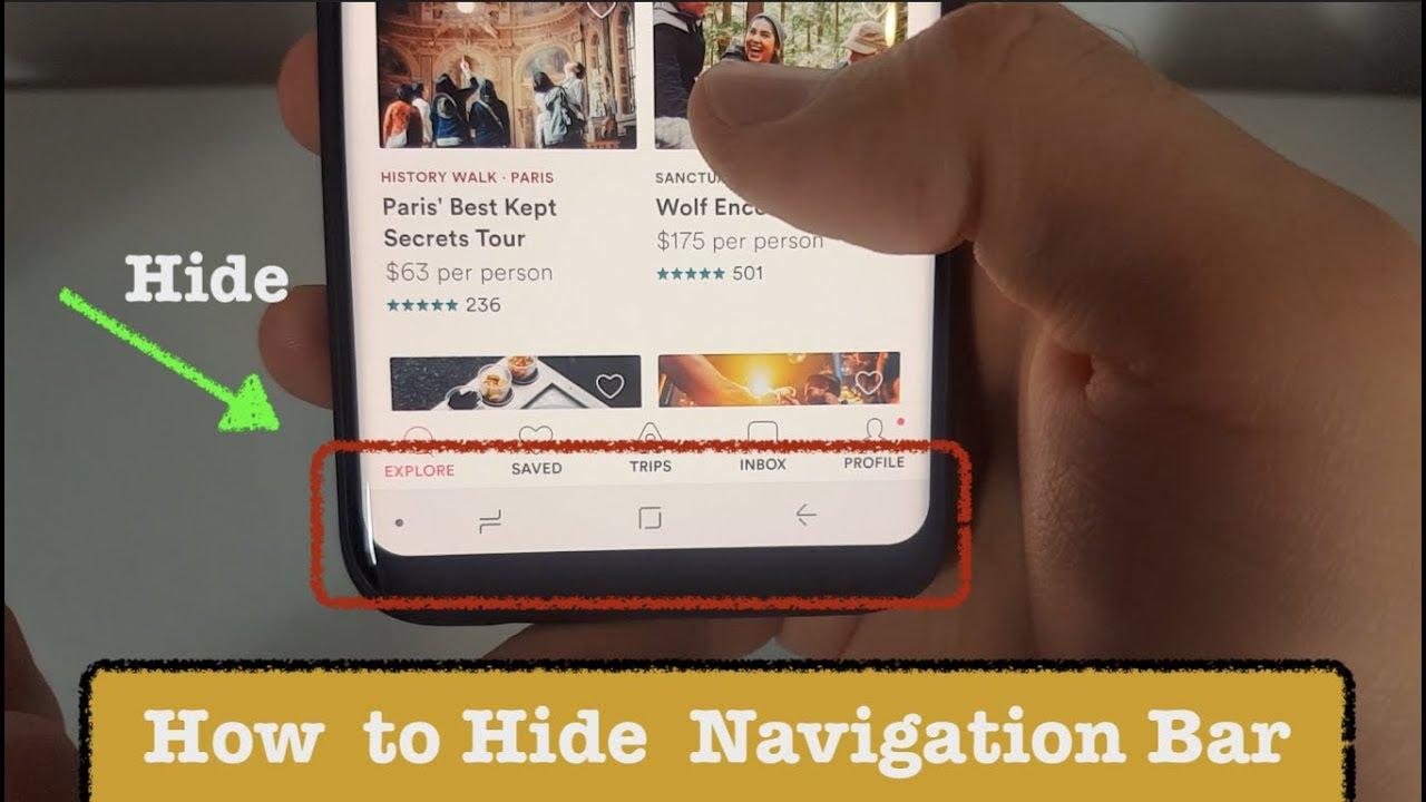Como ocultar a barra de navegação do Samsung Galaxy S8