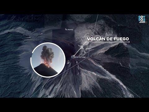 Lugares afectados por la actividad volcánica