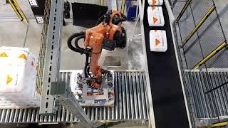 Robot voor Galahad zakkenleegmachine Automatische zakkentoevoer tot 1.000 zakken per uur