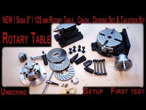 Download Soba 5 125 Mm Rotary Table Chuck Dividing Set Kit Unboxing Review Setup And First Test