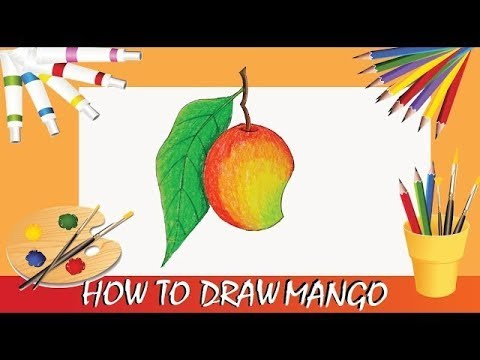 How To Draw Mango Step By Step Pencil Color View And Draw