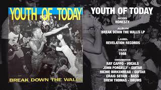 YOUTH OF TODAY - Break Down The Walls LP - Revelation Records (1988)