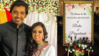 Actor Priyadarshi and Richa Wedding Reception Photos