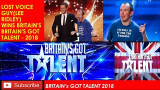 Lee Ridley wins Britain's Britain's Got Talent - 2018 | Lost Voice Guy | Stand-up comedian  BGT 2018