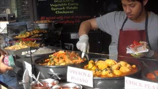 preview picture of video 'London Street Food. Indian Restaurant in Camden Market, Camden Town'