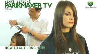 Смотреть онлайн Интересная техника стрижки длинных волос