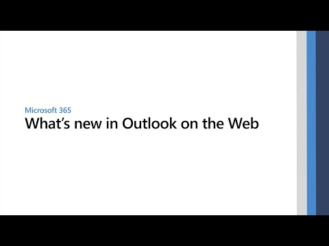 What's new in Outlook on the Web