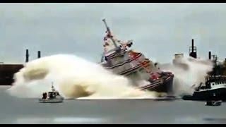 Спуск кораблей на воду. Видео подборка