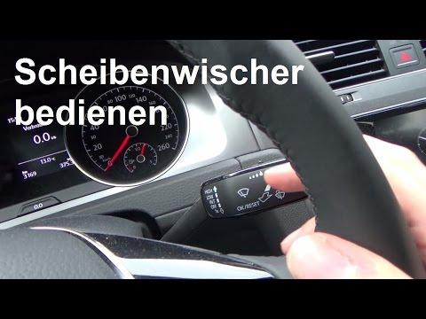 Autofahren lernen Scheibenwischer bedienen einschalten Wischer Funktion Golf Scheibenwaschanlage