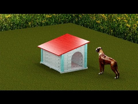 Como hacer una caseta de perro, económica.