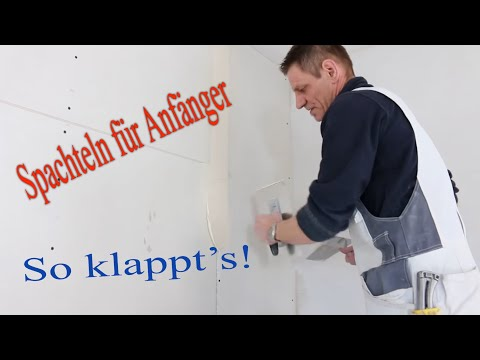 Spachteln einer Trockenbauwand W112 / Finishing a Drywall Joint / Hobein