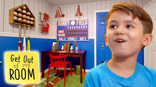 Boys Bedroom Turns Into A BASEBALL STADIUM! | Get Out Of My Room | Universal Kids