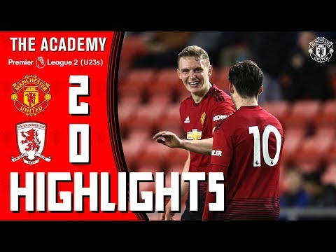 U23 Highlights | Manchester United 2-0 Middlesbrough | The Academy