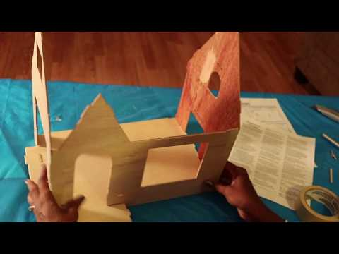 How to assemble a Greenleaf dollhouse kit - Sugar Plum Cottage tutorial
